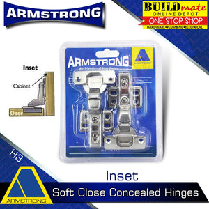 ARMSTRONG Soft Close Hydraulic Cabinet Concealed Hinges 1PAIR Heavy Duty •BUILDMATE•