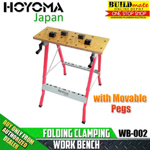 Hoyoma Folding Clamping Work Bench with Movable Pegs WB-002 Workbench •BUILDMATE•