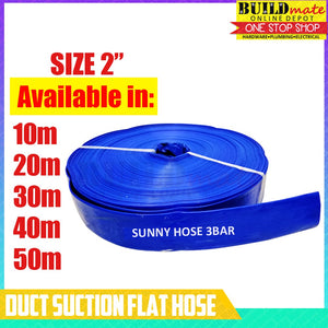 "SUNNY 2"" Duct Suction Flat Hose 40 METERS"