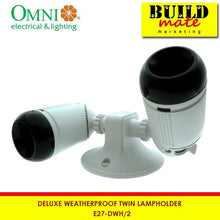 Load image into Gallery viewer, Omni Deluxe Weatherproof Twin Lampholder E27-DWH2