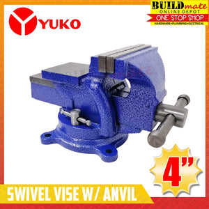 "Yuko Bench Swivel Vise with Anvil 4"" , 5"""
