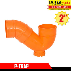 "GODEX Sanitary P-Trap 2"" Orange"