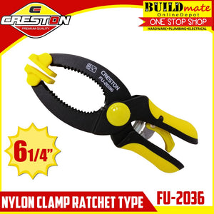 "CRESTON Nylon Clamp Ratchet Type 6 1/4"" FU-2036"