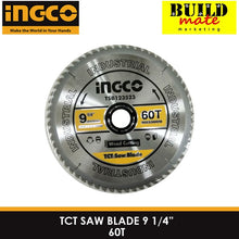 "Load image into Gallery viewer, INGCO TCT Saw Blade for Wood 9 1/4"" 60T TSB123523 •BUILDMATE•"