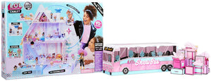 L.O.L. SURPRISE! WINTER DISCO CHALET WOODEN DOLL HOUSE WITH EXCLUSIVE FAMILY & 95+ SURPRISES, MULTICOLOR