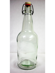 1 Liter Fliptop Bottles (clear)