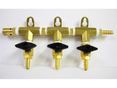 3-Way Manifold w/Shutoff Valves