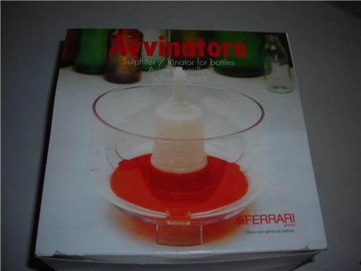 """Avvinatore"" Bottle Rinser/Vinator Pump"