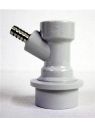 "Ball Lock Gas Connector 1/4"" Barb"