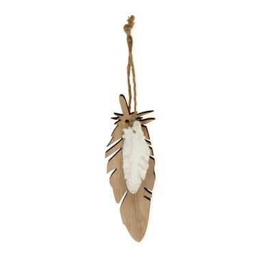 Resin White Mini Feather Wood Le - Maissone