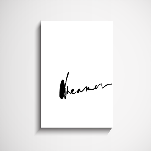 Dreamer Hand Scripted Wall Art Print - Maissone