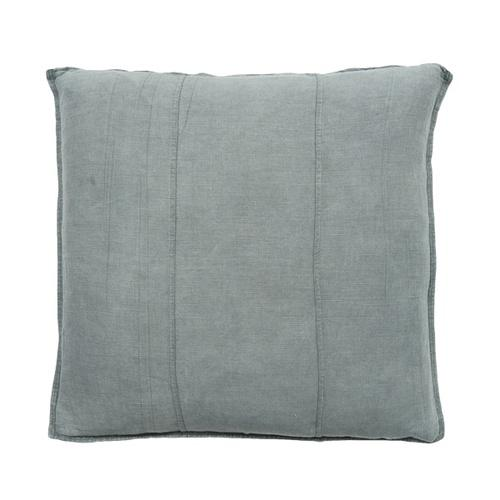Luca Linen Square Cushion Silver Grey - Maissone