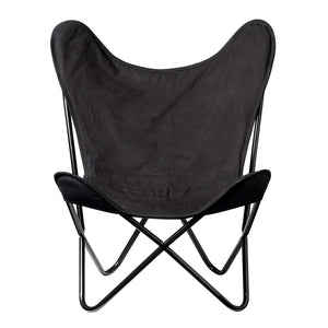 Butterfly Chair Black Cotton - Maissone