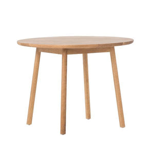Oak Radial Round Dining Table