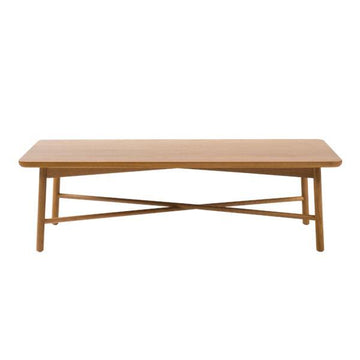 Oak Radial Rectangular Coffee Table