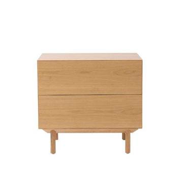 Oak Compound Bedside Cabinet