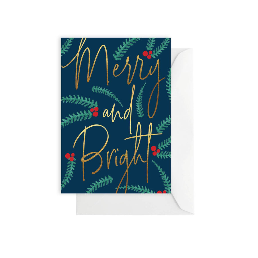 Merry and Bright Christmas - Card