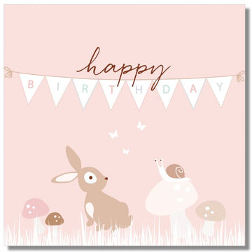 Peachy Bunting - Card