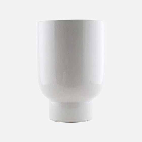 Planter Pot Glazed White