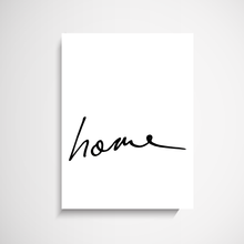 Home - Hand Scripted Art Print