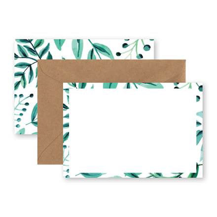 Greenery Notecard Set of 10