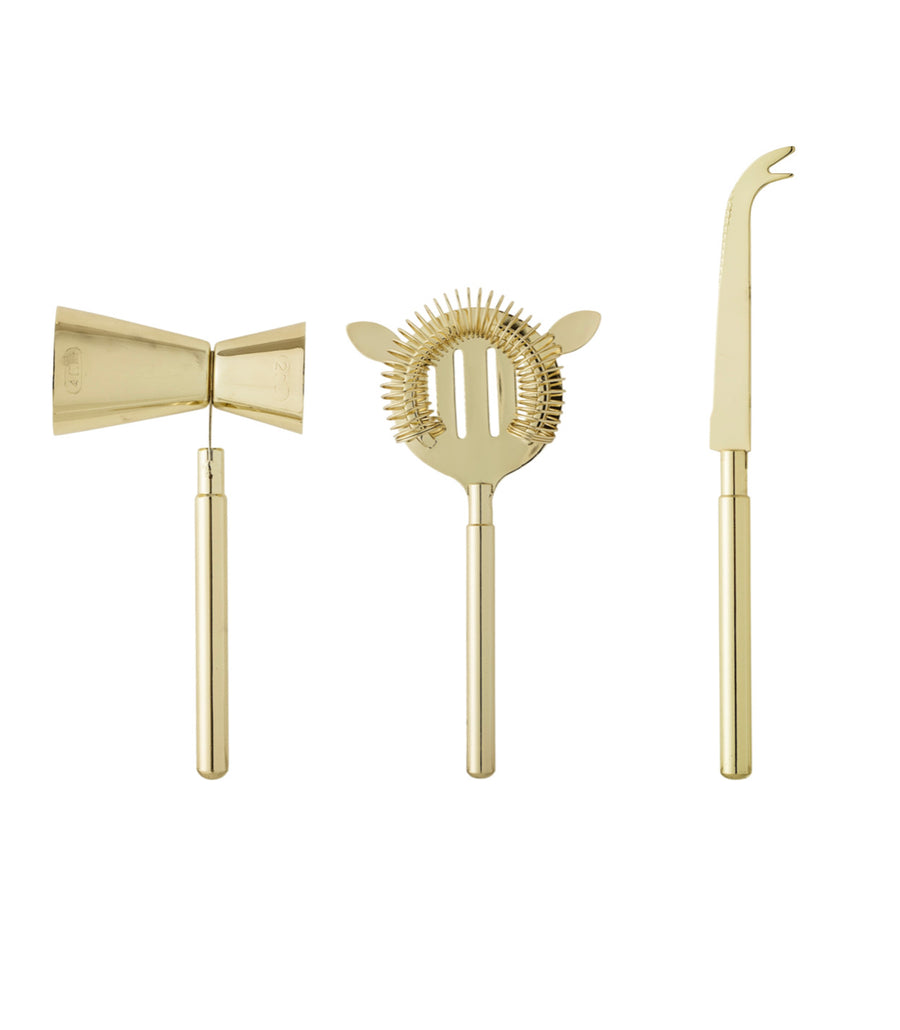 Cocktail Bar Set Gold