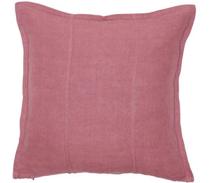 Luca Linen Square Cushion Dusty Rose