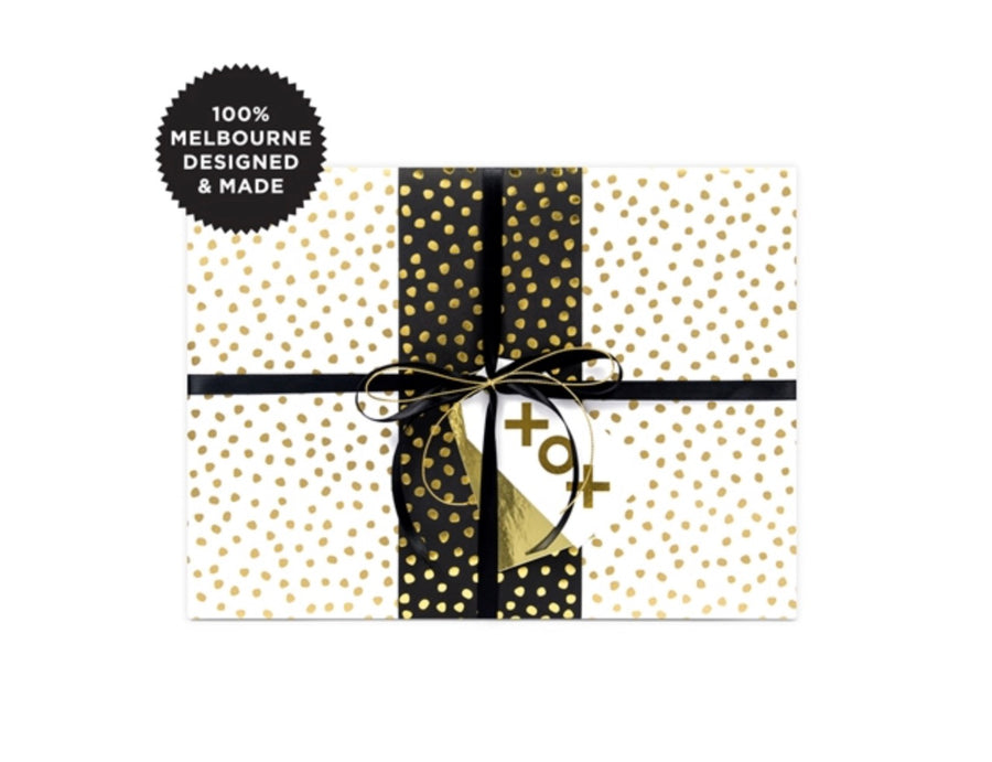 Pebbles Gold Gift Wrap