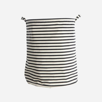 Laundry Bag  - Black and White Stripes
