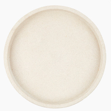 Concrete Round Tray Large White