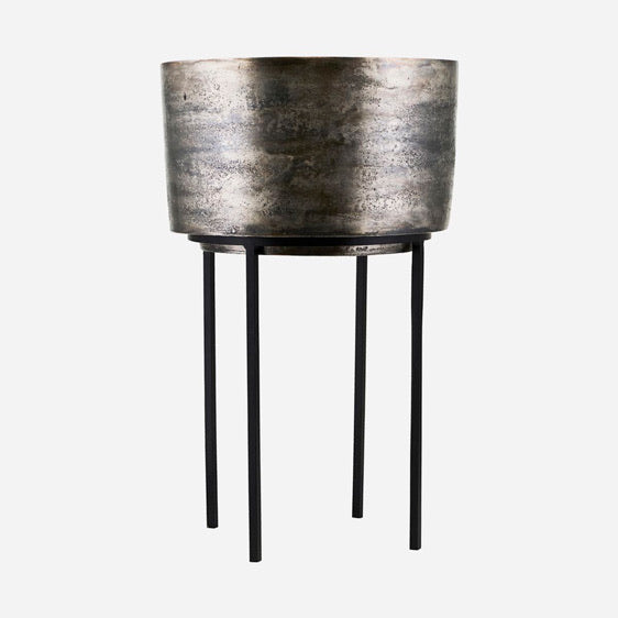 Planter & Stand Oxidised Silver