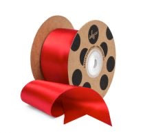 Ribbon Satin 50mm Wide Red