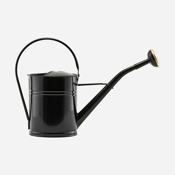 Watering Can Black & Brass