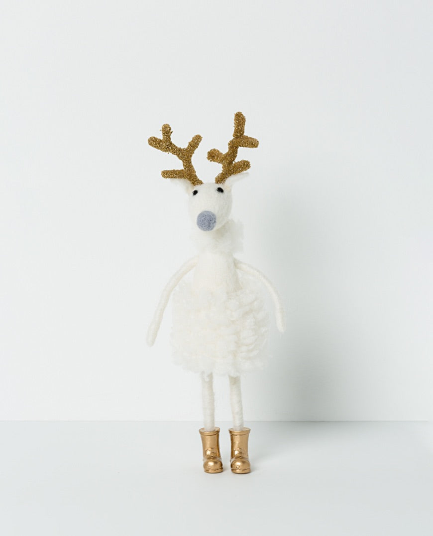 Narnia Standing Reindeer Girl with Boots