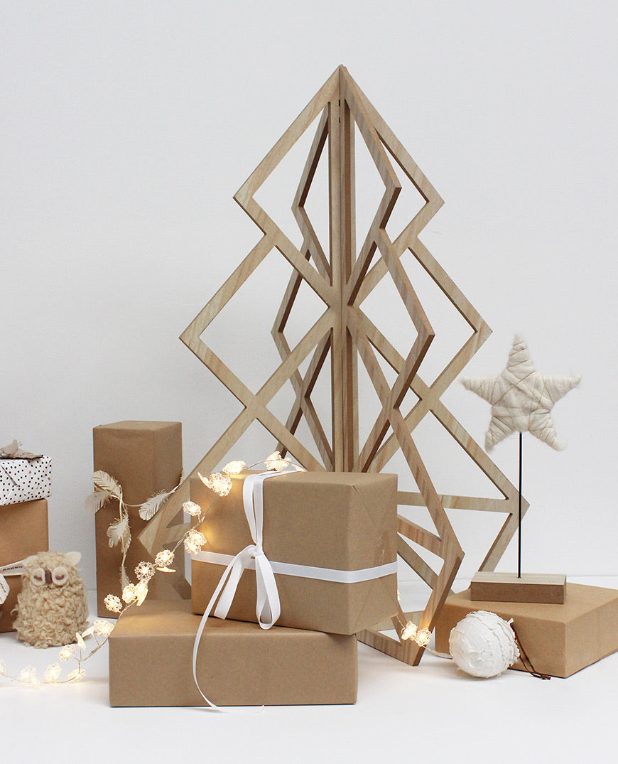 Nordic Geometric Christmas Tree