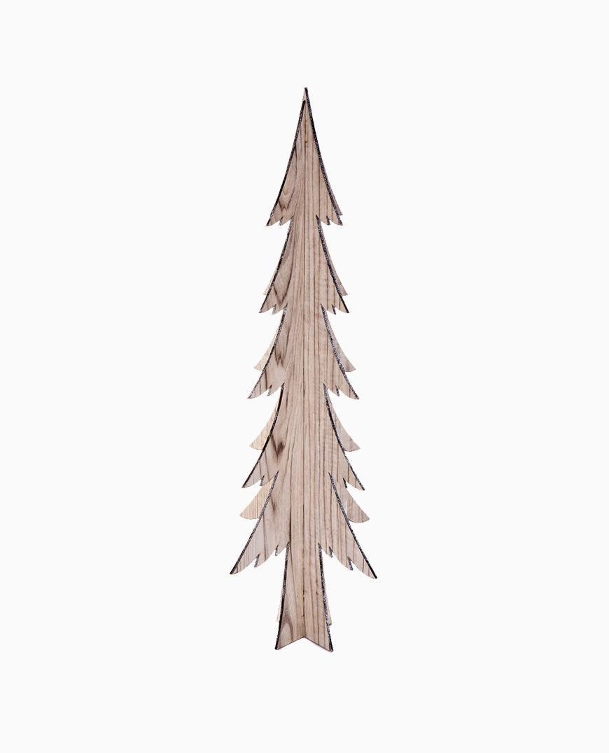Nordic Standing Tree with Silver Edge