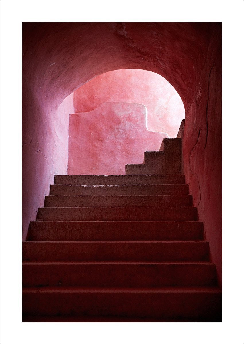 Pink Stairs Limited Edition Framed Photographic Print