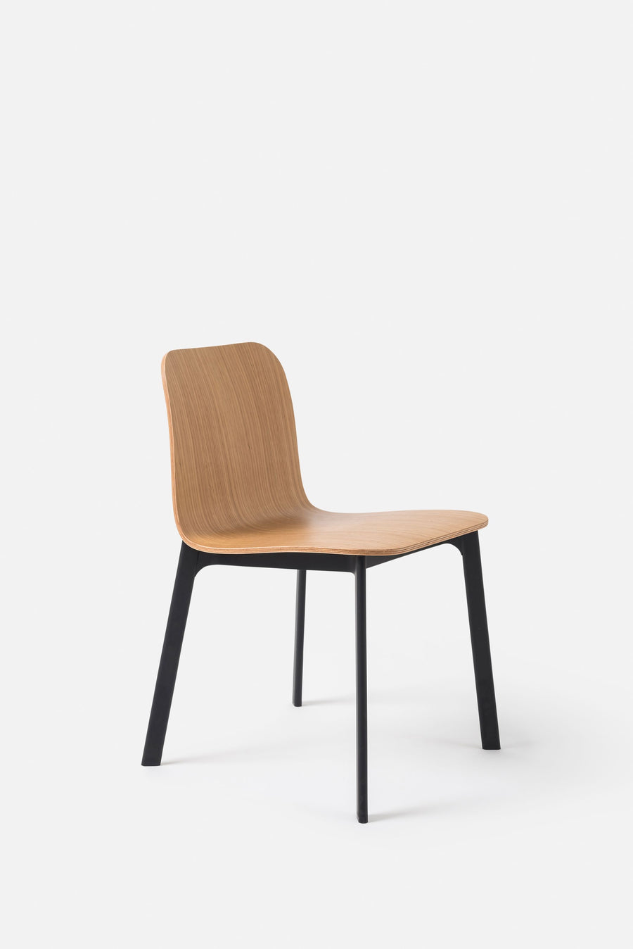 Aspen - oak and black steel dining chair