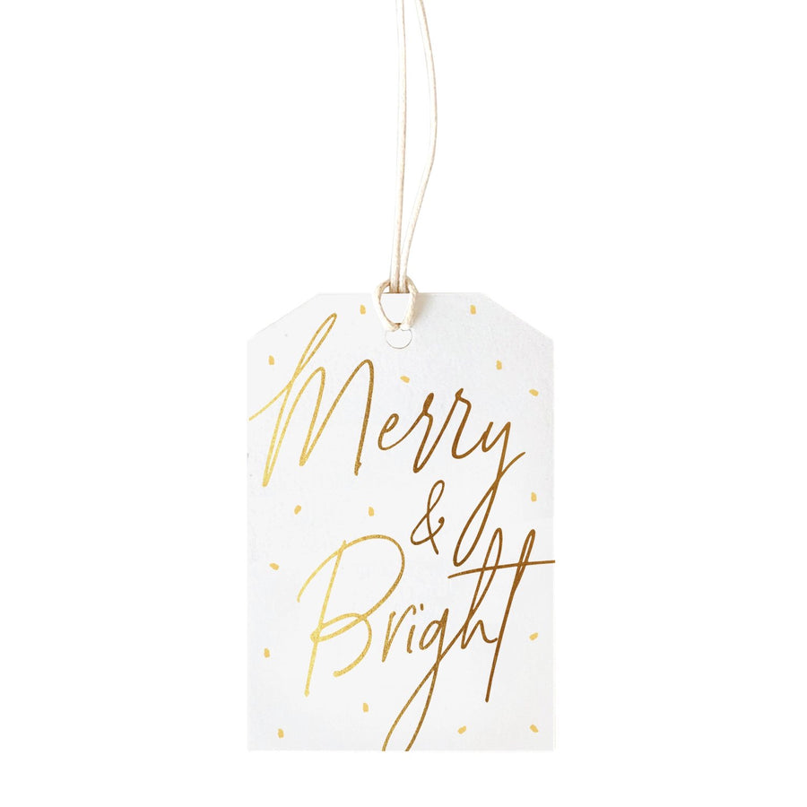 Merry and Bright Christmas Gift Tag
