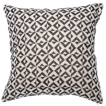 Surrey Cushion Linen Black 60x60cm