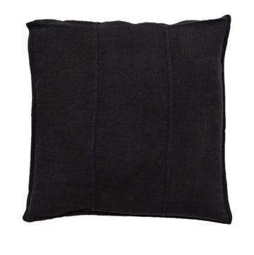 Luca Linen Cushion Square - Black