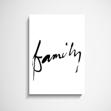 Family - Hand Scripted Art Print