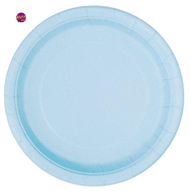 30 X light blue Plastic Disposible  Plates 23 cm for party All occasion
