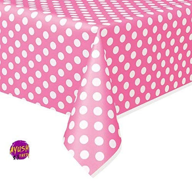 Unique  Pink and Gold Girls 1st Birthday Plastic Tablecloth 7ft x 4.5ft