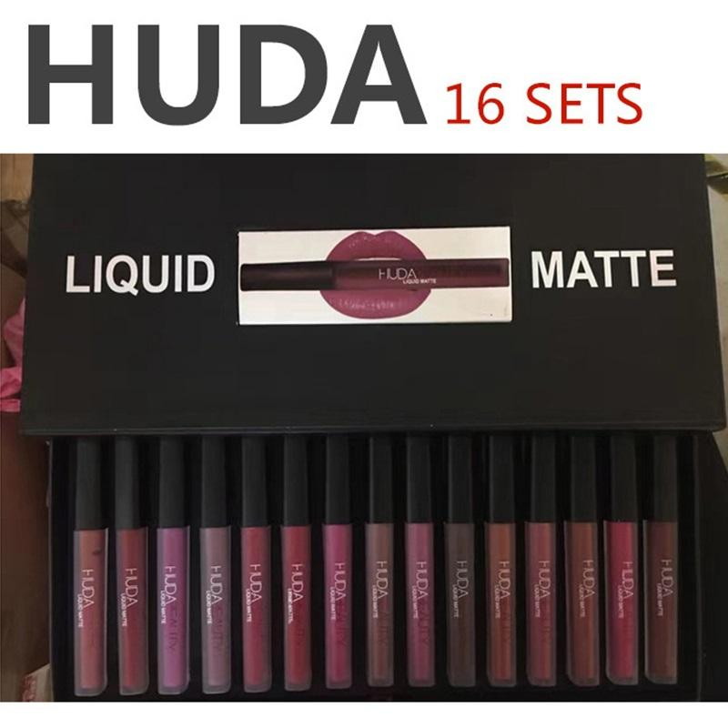 HUDA-Liquid Matte Lipstick 16 PCS/set