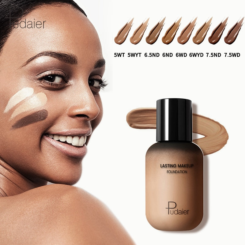 Pudaier 40ml Matte Makeup Foundation Cream for Face