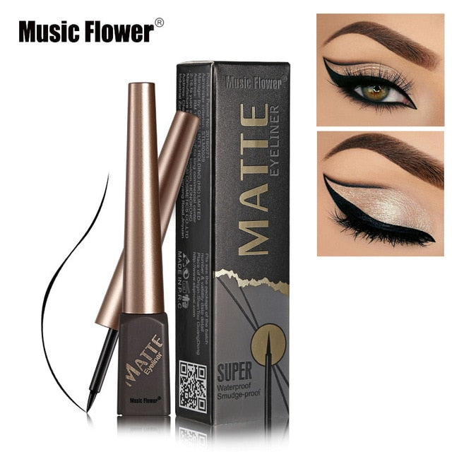 Matte Black Liquid Eyeliner Waterproof
