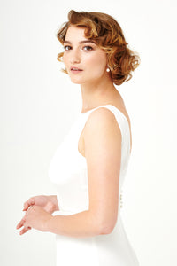 Moon River | Sleeveless Open Back Bridal Top