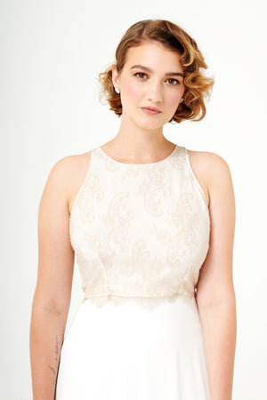 At Last | A-Line Tea-Length Bridal Skirt
