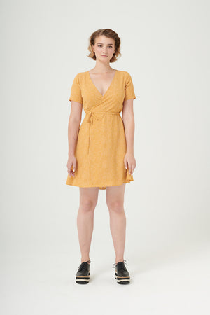 Graceland | Crepe Wrap Dress | Forest